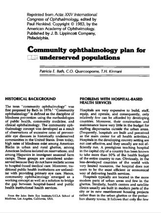 picture of community opathalmology article