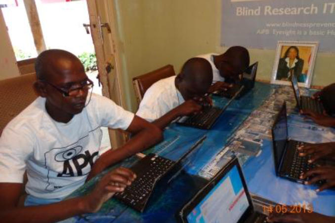 picture of Kenya Advanced students learn computer skills