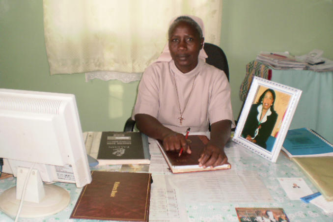 picture of Sister Leonora, Principal of the St. Oda School for Blind Children in Kenya