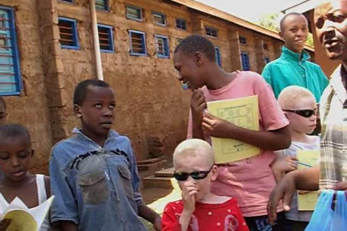 picture of Students at the Mwereni School for Blind Children in Tanzania