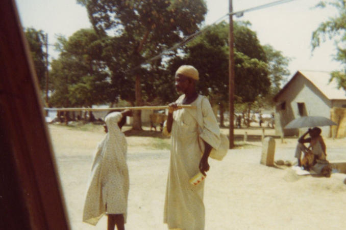 picture of Blind Man with Child Guide