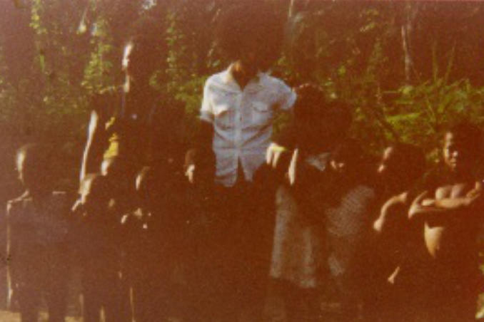 picture of Dr. Bath with Children 1977