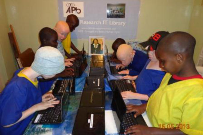 picture of Students in IT Library in Kenya