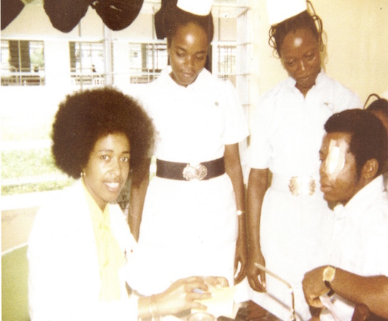 picture of Dr. Bath on duty in Nigeria 1978