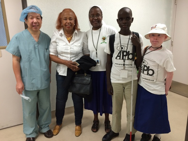 picture of Humanitarian DR. Quon provides free Eye exams for Kenya Kids