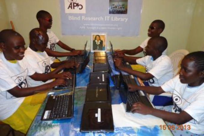 picture of Kenya Girl students express joy at learning computer skills