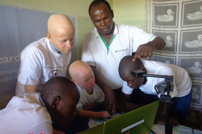 picture of Kenya Advanced students learn about Zoom-Twix from Teacher Francis